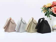 New Women's Stylish Small Hardcase Magnetic Snap Clutch Evening Wristlet Bag