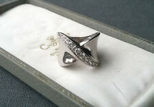STERLING SILVER BOW RING SIZE L SOLID 925