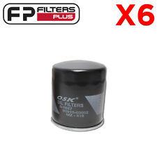 6 X MZ418 OSK Oil Filter - Cross References Ryco Z418, Wesfil WZ418, 90915YZZD2