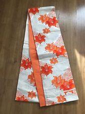 Authentic Silk Fukuro Obi Kimono Japanese Textile Art Tapestry