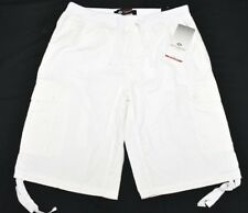 NWT Mens Enyce Sean Combs Stretch Waist Ripstop Cargo Shorts White Size 34 N691