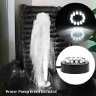 12LED White Color LED Submersible Underwater Fountain Ring Lighting Decor IP68
