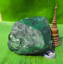 Original Burmese Maw Sit Sit Jade Rough.  Classic Greens Black & White  610Grams