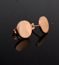 NEW Rose Gold Tone Small Round Earrings Ear Stud Boho Design Trendy Fashion UK