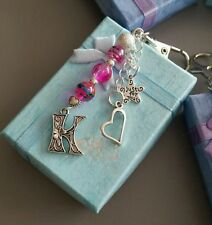 Letters, Numbers & Symbols Metal Keyrings for Women