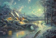 Schmidt-spiele 58453 Puzzle Thomas Kinkade Winterliches Mondlicht