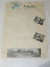 1940 SE RANCHO MOTOR LODGE SALT LAKE CITY UTAH STATIONARY 1940'S