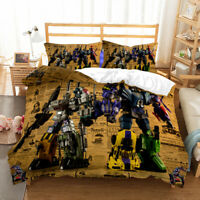 3D Print Transformers Bedding Set Duvet Cover and Pillowcase Twin Full Queen