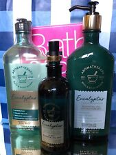 Bath Body Works Aromatherapy Eucalyptus Essential Oil Mist Lotion Wash ShowerGel