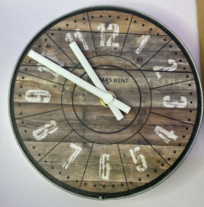 "Thomas Kent Clocks London 6.5"" Wharf Cotton Mill New Boxed British Design Works"