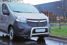 PARE BUFFLE RENAULT TRAFIC 2014- HOMOLOGUE INOX 70MM