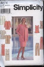 Simplicity 8074 Sewing Pattern Jacket~Dress~Tunic~Pants~Belt Sizes 10 12 14 UC