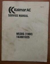 Kalmar AC Service Manual for Models NR30S (1988) 163881025
