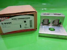 Nsi industrial connectors ebay nsi 2 800t double lug al dual rated wire connector al9cu 600v greentooth Images