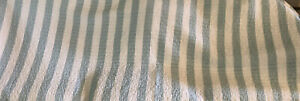Twin Reversible Quilted Bedspread Comforter Wide Pale Green and White Stripes