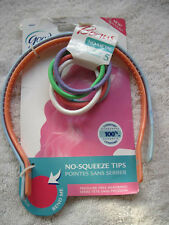 2 Goody Girls Ouchless Flex Pressure Free Thin Hair Head Bands Comfort Tip Peach