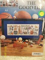 "Design Works Counted Cross Stitch ""The Good Life"" Hanging Up Sports Equipment"