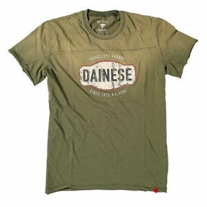 Dainese Garage Fashionable Casual Wear T-Shirt Army Green