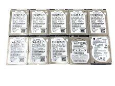 "Mixed Lot of 10 40 GB 2.5"" SATA Laptop Hard Drives Hitachi Toshiba Seagate"