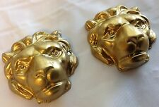 2 New Decorative Lion Heads for Clock Cases, Doors, Furniture, Hardware (HW-02S)