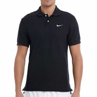 Nike Mens Classic Black Pique Polo Shirt Short Sleeved Casual Retro Sports Top