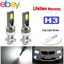 2x H3 High Power LED Fog Driving DRL Light Bulbs White 6000K Headlight kit 12LED