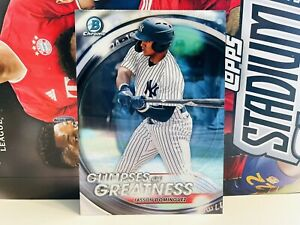 2020 Bowman Draft Chrome Glimpses of Greatness Jasson Dominguez Yankees