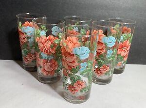 Set of 6 Pioneer Woman Vintage Floral 16 oz Glasses Coolers