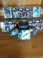 Assorted Star Wars Lot - Rogue One Figures Lunch Box Trash Can & Crayons All New