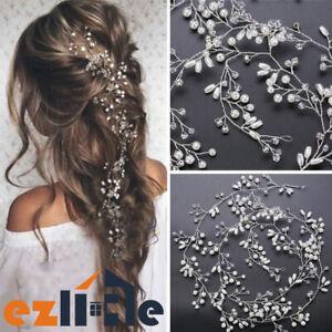 100cm Pearl Hair Vine Headpiece accessories Women Headdress Chain Bridal Wedding