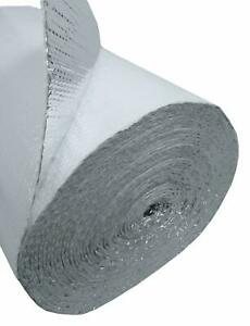 """White Faced Double Bubble Reflective Foil Thermal Insulation (48""""x20') 80sqft"""