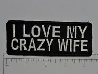 I Love my Crazy Wife Club Harley Biker Funny Motorcycle Iron On Small Patch