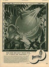 Publicité ancienne trois fois le tour du monde Perrier 1942 issue de magazine