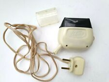 Vintage NEVA 3 USSR Electric Rechargeable Shaver w/Leather Case 1960's Unused
