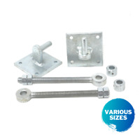 4 x gate eyes and 2 collar 4 x brackets Iron gate hinge bracket with 12 mm pin