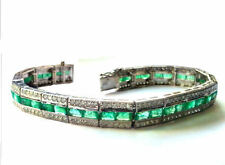 Very Good Cut White Gold 14 Carat Fine Diamond Bracelets