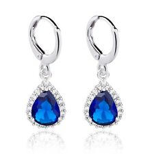 Wonderful Real White Gold Filled Cubic Zircon Drop Earrings For Women Party Show