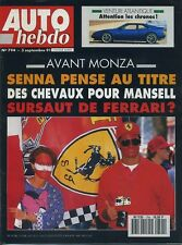 AUTO HEBDO n°794 du 3 Septembre 1991 Venturi 260 Atlantique Opel Astra GSI