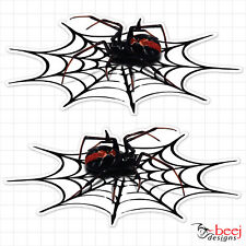 Redback in Web - 200 x 87mm ea (2 in set) Sticker -  Red Back Spider