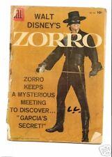 1958 WALT DISNEY'S ZORRO DELL #933 COMIC BOOK