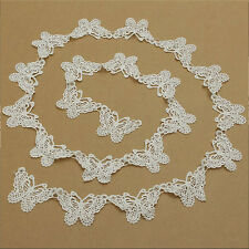 1M Hollow Butterfly Lace Applique Patch Sewing Wedding Home Room Crafts DIY