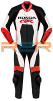 Honda Racing Motorcycle Custom Leather Suit Motorbike Racing leather Cowhide
