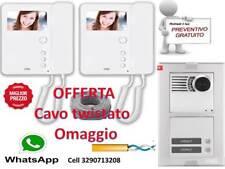 KIT CAVO + VIDEOCITOFONO BIFAMILIARE URMET 1783/322 completo di cavo twistato