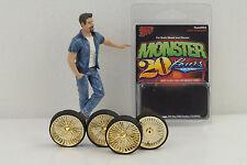 4 cerchioni Monster Lowrider T/ruota Gold 1:24/1:25 Hoppin HYDROS senza personaggio