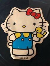 HELLO KITTY 1976 Sanrio Japan tiny sticker rare adesivo grande vintage epoca