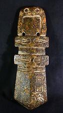"Ancient Chinese Jade Owl & Ancestor's Ritual Axe ""Jue"" Heaven w/Translation"