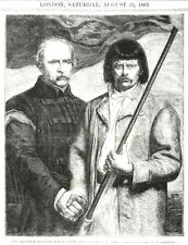 Alliance Between the Nobility and People of Poland Wood Engraving 1863 Lithuania