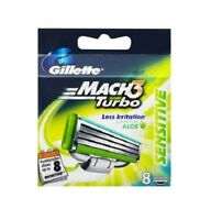 Gillette Mach3 Turbo Sensitive Razor  Blade Refills, 8 Cartridges