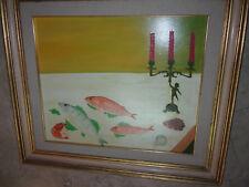 Natura morta Olio su tela cm.50 x 60 Firmato cornice laccata oil on canvas