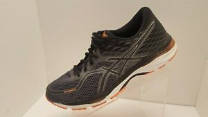 ASICS Mens Gel-Cumulus 19 Size 12 Running Shoes Training T7B3N Black/Orange